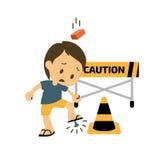 Saúde e segurança feridas dos desenhos animados Ilustração Stock