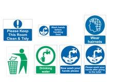 Saúde e sinais de aviso Imagem de Stock