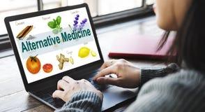Saúde Herb Therapy Concept da medicina alternativa fotografia de stock