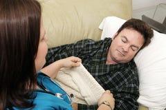 Saúde Home - Naptime Foto de Stock Royalty Free