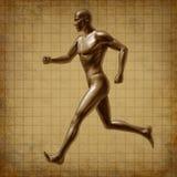 Saúde médica da energia ativa Running do corredor do homem Fotos de Stock
