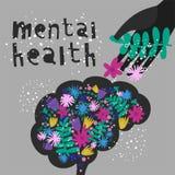 Saúde mental Ilustração do vetor Ilustração Stock