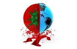 Saúde, pandemia, vírus, ebola ilustração stock