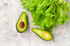 sałata i avocado zdjęcia royalty free