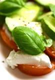 sałatkę tricolore mozzarella zdjęcie stock