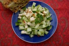 Sałatka cucunber z serem zdjęcia royalty free