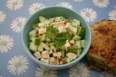 Sałatka cucunber z serem obraz stock