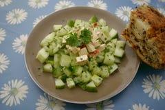 Sałatka cucunber z serem zdjęcia stock