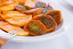 Sałatka mangowej i kłującej bonkrety kaktusa owoc Obrazy Stock