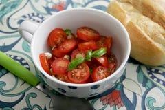 Sałatka pomidory fotografia stock