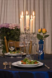 sałatka służy romantycznej tabela 2 Fotografia Royalty Free
