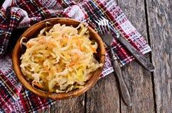 Sałatka sauerkraut obraz royalty free