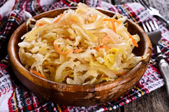 Sałatka sauerkraut zdjęcia stock