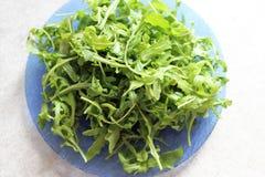 Sałatka soczyści zieleni liście arugula zdjęcia royalty free