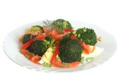 Sałatka z łososiem i brokułami Obraz Royalty Free