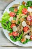 Sałatka z świeżymi warzywami i makaronem Zdjęcie Royalty Free