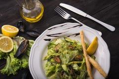 Sałatka z mussels Zdjęcia Stock
