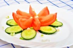 Sałatka z pomidorem i cucumber Obraz Stock