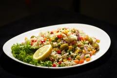 sałatka z ryżu Fotografia Stock