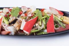 sałatkowego owoce morza korzenny tajlandzki Obraz Royalty Free