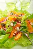 sałatkowi mieszanek świezi persimmons Fotografia Stock