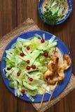 Sałaty, agresta i Czerwonego rodzynku sałatka z kurczakiem, Zdjęcia Stock
