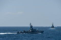 Sa'ar 4 5-class pociska łódź Zdjęcia Royalty Free