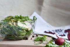 Sałatka: warzywa i ziele Fotografia Stock
