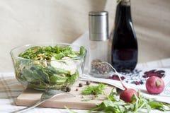Sałatka: warzywa i ziele Obraz Royalty Free