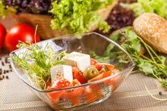 Sałatka z pomidorami i serem Zdjęcie Stock