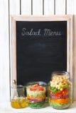 Sałatkowy menu Obrazy Stock