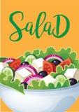 Sałatkowy zdrowy jedzenie Fotografia Royalty Free
