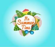 Sa bannière d'heure d'été abr?gez le fond photos stock