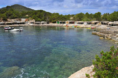 Sa Caleta cove in Ibiza Island, Spain Stock Photos