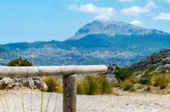 Sa Calobra в Serra de Tramuntana - горах в Мальорке, Испании Стоковая Фотография RF