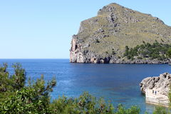 Sa Calobra bay in Mallorca Royalty Free Stock Photography