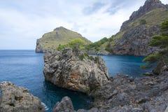 Sa Calobra bay, Mallorca, Balearic islands, Spain Stock Image