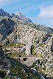 Sa Calobra droga w Majorca Zdjęcie Royalty Free