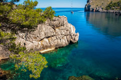 Sa Calobra, Mallorca, Hiszpania Obrazy Royalty Free