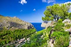 Sa Calobra on Mallorca Island, Spain. Beautiful view of Sa Calobra on Mallorca Island, Spain Royalty Free Stock Photo
