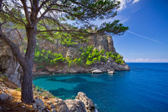 Sa Calobra on Mallorca Island, Spain Royalty Free Stock Photo