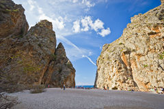 Sa Calobra on Mallorca Island, Spain Royalty Free Stock Photos