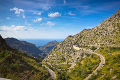 Sa Calobra on Mallorca Island, Spain. Beautiful view of Sa Calobra on Mallorca Island, Spain Royalty Free Stock Image