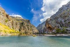 Sa Calobra on Mallorca Island, Spain. Beautiful view of Sa Calobra on Mallorca Island, Spain Royalty Free Stock Image