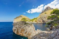 Sa Calobra on Mallorca Island, Spain. Beautiful view of Sa Calobra on Mallorca Island, Spain Royalty Free Stock Images