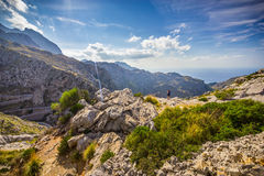 Sa Calobra on Mallorca Island, Spain. Beautiful view of Sa Calobra on Mallorca Island, Spain Stock Photo