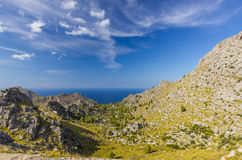Sa Calobra on Mallorca Island, Spain. Beautiful view of Sa Calobra on Mallorca Island, Spain Royalty Free Stock Photos