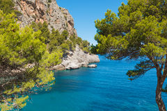 Sa Calobra on Mallorca Island, Spain. Beautiful view of Sa Calobra on Mallorca Island, Spain Stock Photography