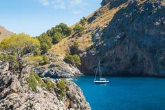Sa Calobra on Mallorca Island, Spain. Beautiful view of Sa Calobra on Mallorca Island, Spain Stock Images
