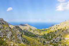 Sa Calobra on Mallorca Island, Spain. Beautiful view of Sa Calobra on Mallorca Island, Spain Royalty Free Stock Images